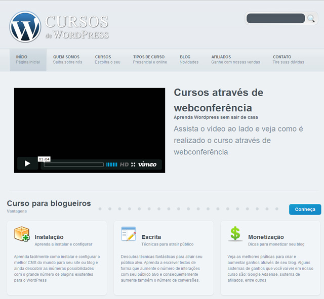 Cursos WordPress